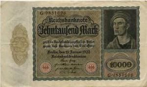 10000 марок. 1922 г.