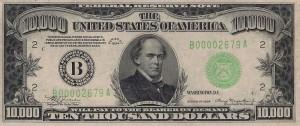Банкнота 10 000 долларов США. 1934 г.