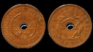 Монеты Родезии и Ньясаленде