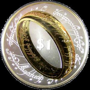 """Монеты Новой Зеландии - 1 доллар.  """"Властелин колец"""""""