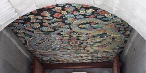 Музей Банка Кореи. Потолочная роспись.