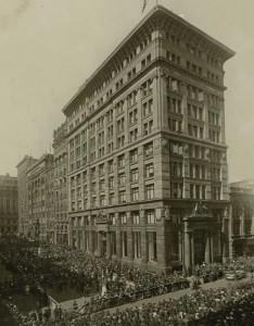 Открытие штаб-квартиры Содружества банка Австралии. 1916 г.