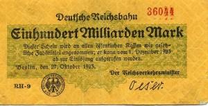 Сто миллиардов марок. 1923 г.