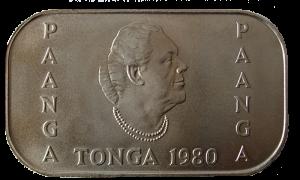 Тонганская паанга. 1980 г.
