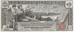 Американская нумизматическая ассоциация. Один серебряный доллар. 1886 г.