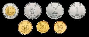 Гонконские деньги. Монеты. 10 центов - 10 долларов