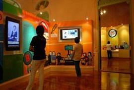 Музей банка Таиланда. В одном из залов с экспозициями.