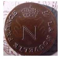 Монета Наполеона. Аверс