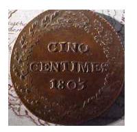 Монета Наполеона. Реверс.