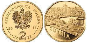 2 злотые. Монеты Национального банка Польши. г. Гдыня