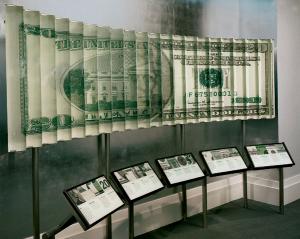 Музей денег в Атланте. Экспозиционный зал.