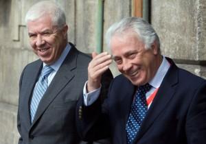 Президент Банка Карлос Коста и мин. финансов Португалии Тейксейра дос Сантос