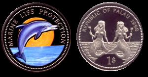 Монеты Республики Палау «Русалки и морские животные»