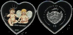"монета ""Сердца дьявола и Ангела"""
