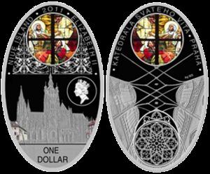 """Монета """"Собор в Праге"""""""