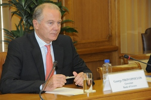 Управляющий Банком Греции Джордж Провопулос,