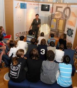 Музей денег Бельгии. Учебные занятия.