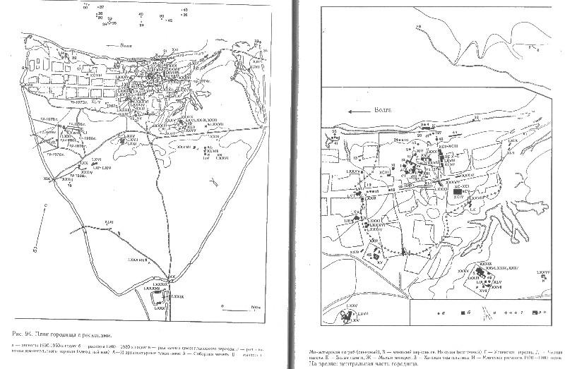 План Булгарского городища