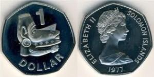 Монеты Соломоновых Островов. Номинал 1 доллар