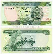 Банкноты Соломоновых Островов. Номинал 2 доллара