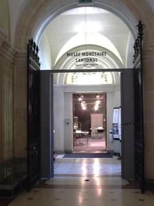 Кантональный музей денег. Вход.