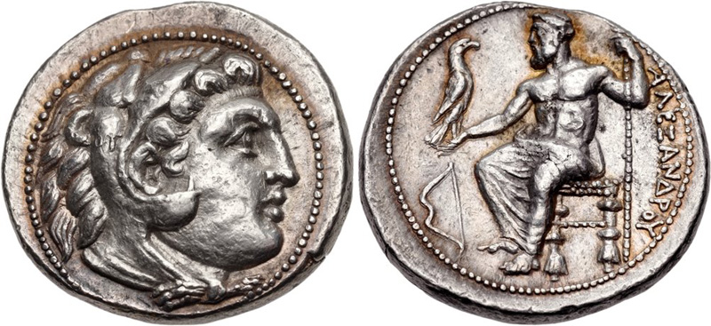 Тетрадрахма александра македонского цена монеты 10 рублей кемь