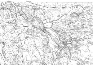 Рис.57. Карта участка дельты Волги с Красноярским городищем.