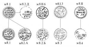 Рис.85. Реконструкции пулов Сарая 731 г.х. типа м8.