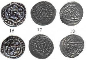 Фото 1. Сканированные изображения дирхемов Токты 690, 692 и 693 гг.х., Крым.