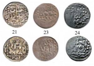 Фото 2. Сканированные изображения дирхемов Токты 698, 700 и 701 гг.х., Крым.