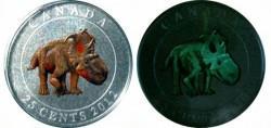 Canada-25-cent-Dinosaur-Pachyrhinosaurus-Coloured-Glow-in-the-dark-Coin-250x118