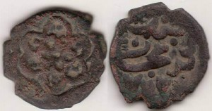 Илл.8. Анонимный пул улуса Мохши 762 г.х. с местом выпуска Нуричат.