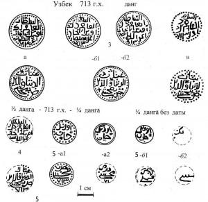 Илл.5. Реконструкции дангов Мохши 713 г.х. и его фракций.