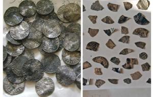 Рис.5 Западноевропейские денарии и обломки куфических дирхемов Рачевского клада середины XI в.