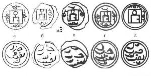 Рис.9. Реконструкции разновидностей пулов типа м3 из работ разных авторов.