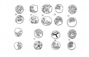 Рис.8. Пулы Хорезма. Типы 35, 69, 36, 50, 51, 52, 54, 70. (по этой лекции).