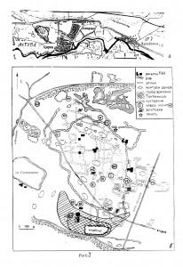 Рис.1. Карта-схема Царевского городища