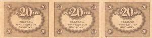 рис.36. 20 рублей образца 1917-1919 гг. - оборотная сторона (из коллекции Музея денег)