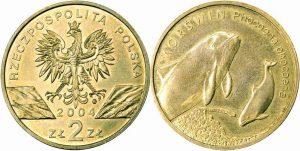 Рис. 2.   2 злотых. Польша, 2004,  латунь