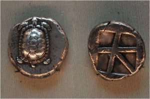 Рис.1. Дидрахма. Эгина, 431-404 гг. до н. э., серебро (из коллекции Эрмитажа)