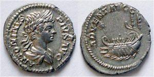Рис. 19. Денарий. Римская империя, император Каракалла, 202  г.