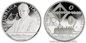 Рис.22.  10 евро. Италия, 2009, серебро