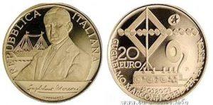 Рис.23. 20 евро. Италия, 2009, золото