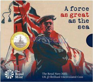 Рис.4. Подарочная упаковка для монеты с изображением британского линкора времен Первой мировой войны