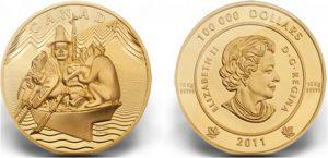 Рис.29.  100 000 долларов. Канада, 2011, золото. Вес – 10 кг.