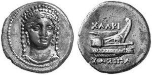 Рис.5.   Тетрадрахма. Остров  Самос, около  494  г. до н.э., серебро.