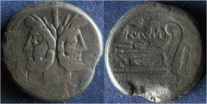 Рис.6  Асс. Римская республика, 189-190 г. до н.э, анонимный выпуск, медь