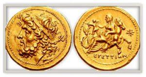 рис.7. Драхма. Бруттий (Аппенинский п-ов), 221-201 гг. до н.э., золото