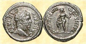 Рис.9. «Нептун» Денарий. Римская республика (Луций Септимий Север ) – 146 – 211 гг.