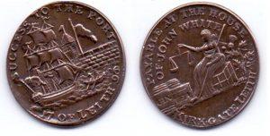 Рис. 10. ½ пении (токен). Великобритания, Шотландия, Лит, 1796, бронза. Порт Лит. Из коллекции Музея денег
